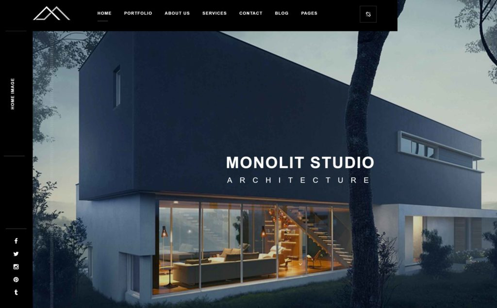 Web design for architecture studio