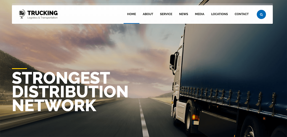 Web design for transport and logistics company