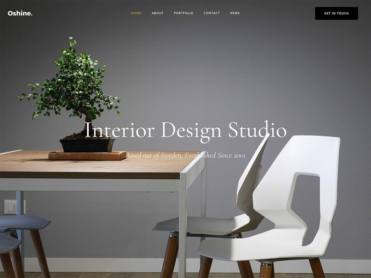 website for design and interior design