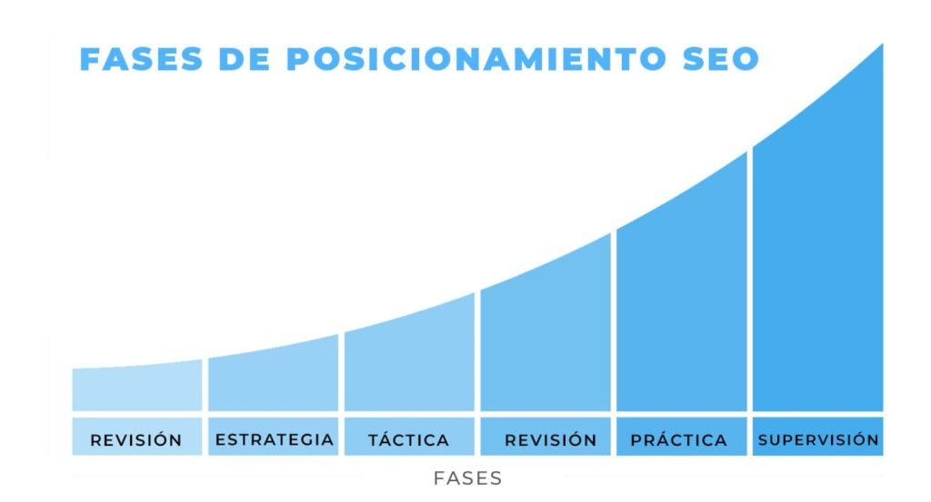 phases de positionnement seo d'une page web