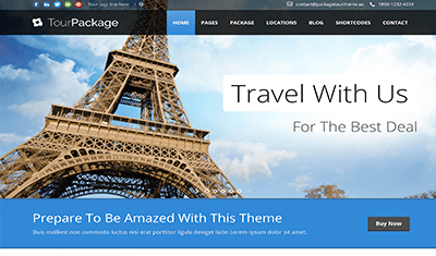 Web design for travel tours