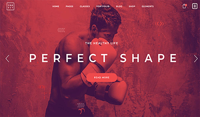 Boxing website examples