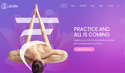 Examples of pilates websites