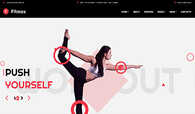 Examples of yoga websites