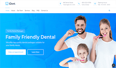 dentists web example