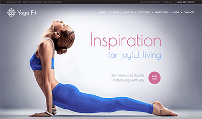 yoga example websites