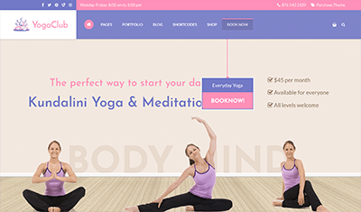 web designs fitness classes