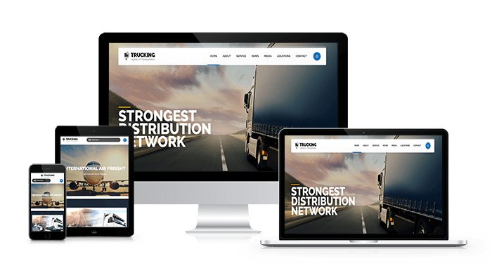 web design for empesa transporte