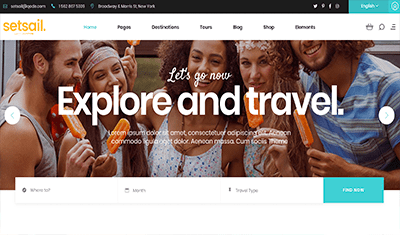 Websites for travel agencies