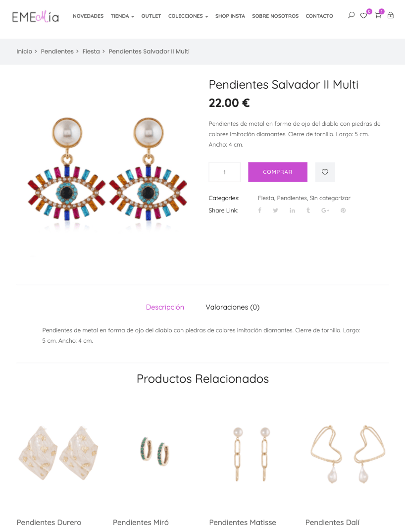 individual jewelry product
